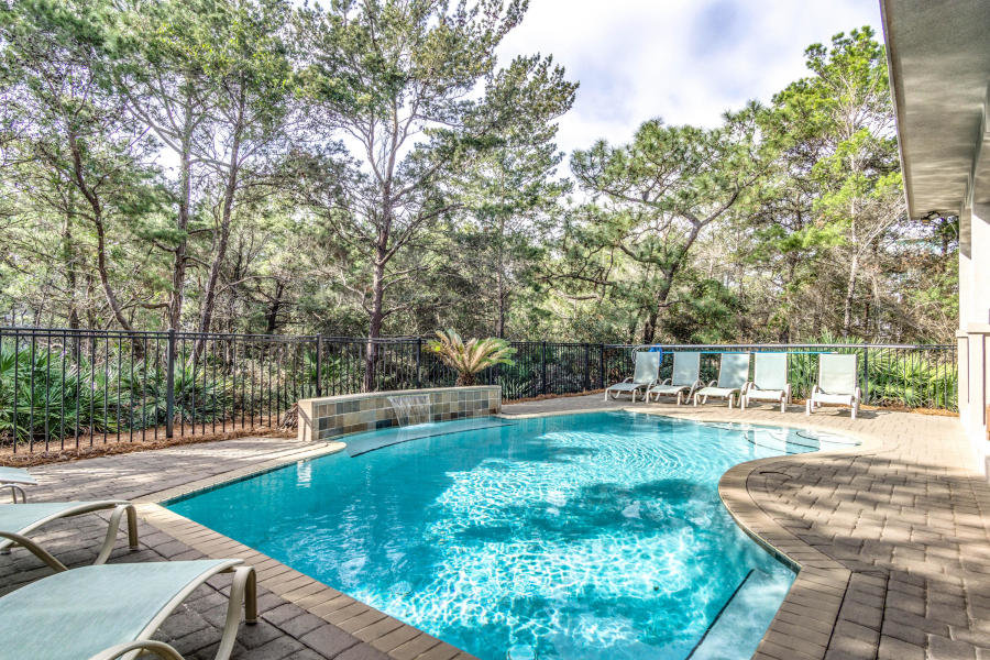 backyard pool in Santa Rosa Beach home - mls 791970
