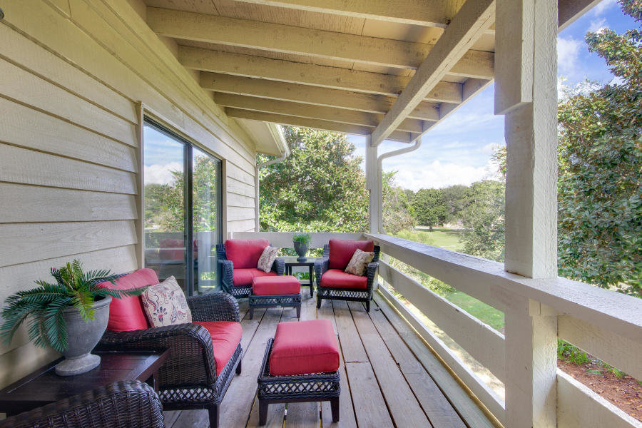 Back deck in Seascape garden villa