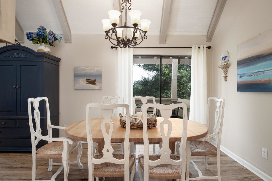 Dining area in Seascape home