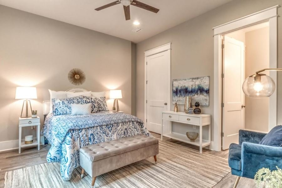 Master bedroom in home at Lakeside at Blue Mountain Beach