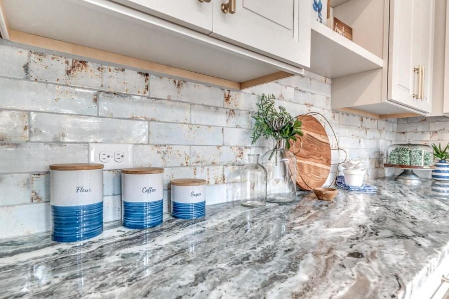 Backsplash in home in Lakeside at Blue Mountain Beach