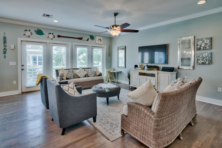 Miramar Beach home in Treasure Sands - great room
