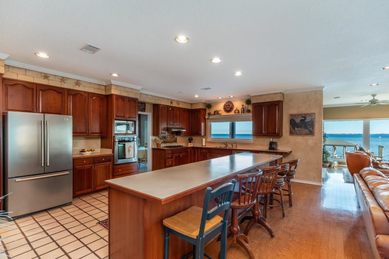 Kitchen in Shalimar, FL waterfront home