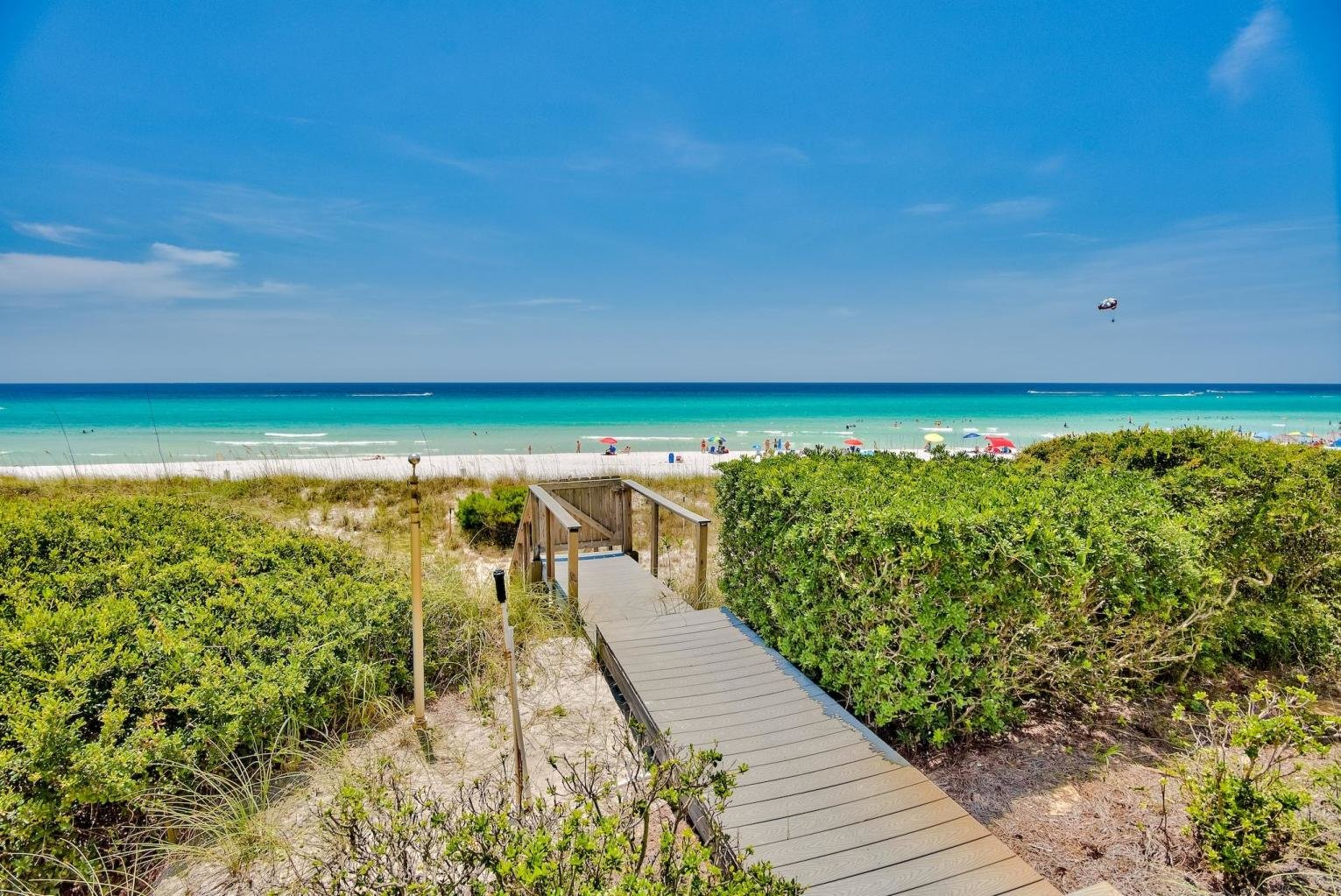 Private walkover from home in Four Mile Village home in Miramar Beach, Florida