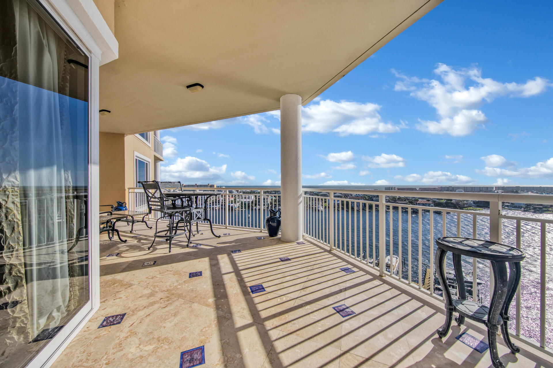 Balcony in Grand Harbor condo
