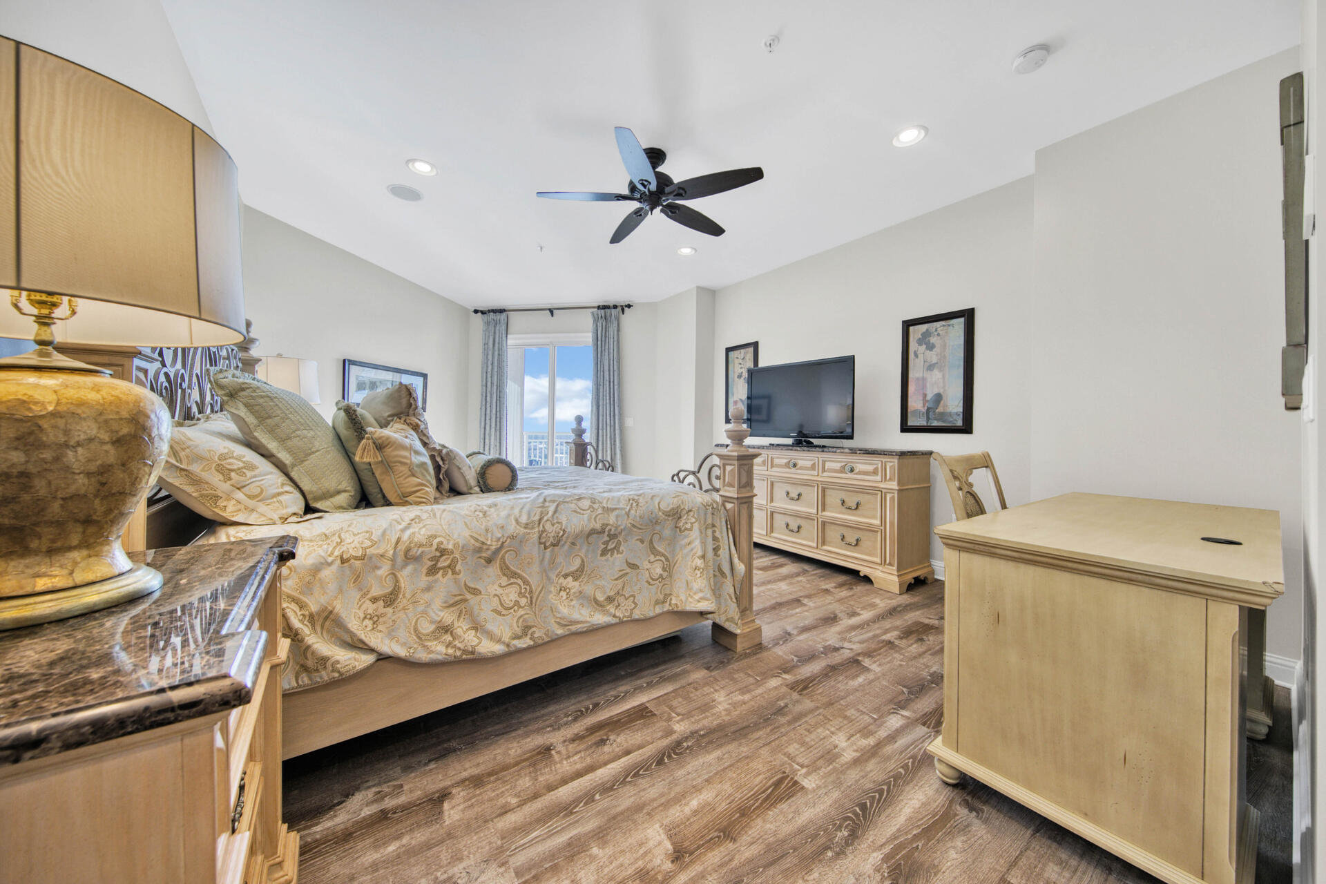 Master bedroom in Grand Harbor condo