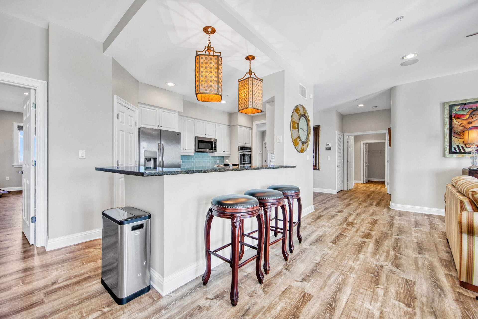 Breakfast bar in Grand Harbor condo