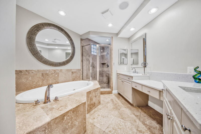 Master bathroom in Grand Harbor condo
