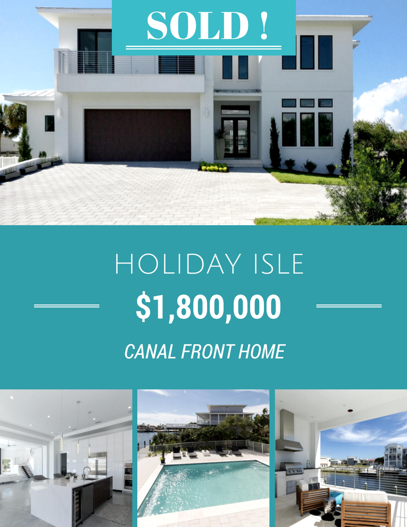 Holiday Isle Canal Home sold