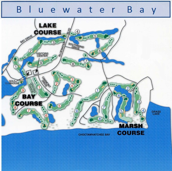 Bluewater Bay golf courses