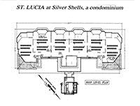 Roof level plan, St. Lucia