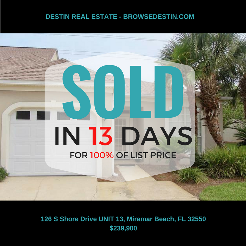 Miramar Beach townhome sold