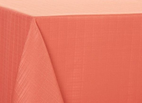 Tablecloth in Living Coral accent