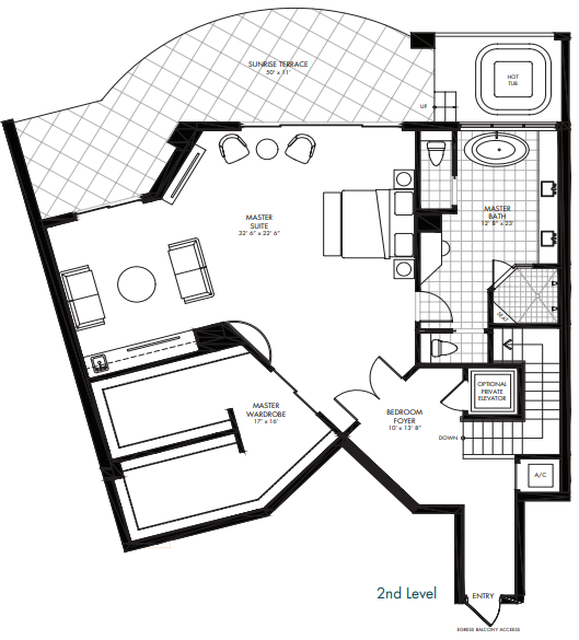 St. Kitts at Silver Shells - Basseterre Penthouse 2nd level floor plan