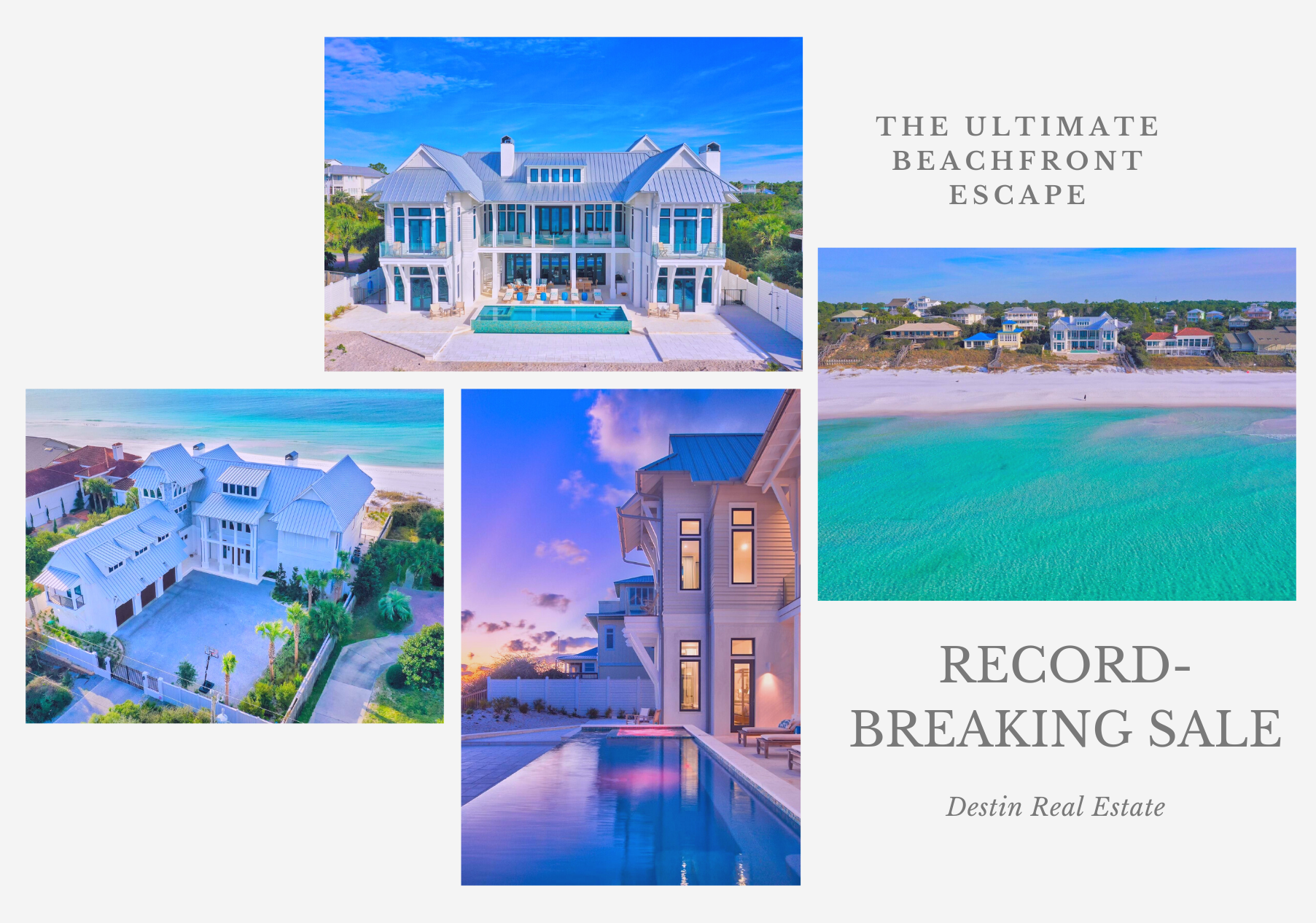 NEWS! Record breaking gulf front home sale in Santa Rosa Beach, Florida