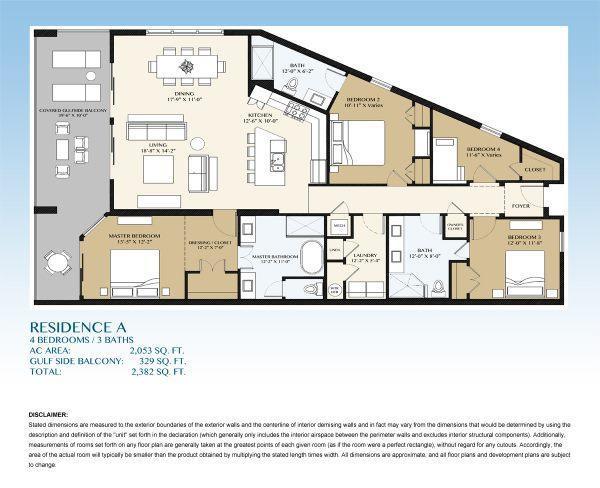 Floorplans For Blu Condominiums Okaloosa Island In Fort