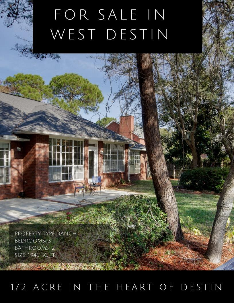 West Destin home for sale on Burning Tree Dr.