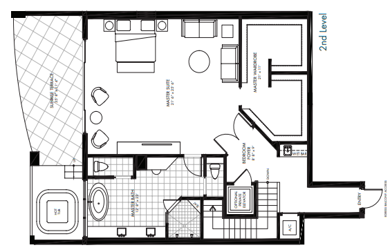 St. Kitts at Silver Shells - Charleston Penthouse 2nd level floor plan