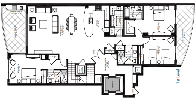 St. Kitts at Silver Shells - Charleston Penthouse 1st level floor plan