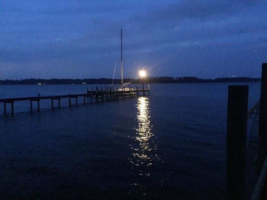 Choctawhatchee Bay view at night