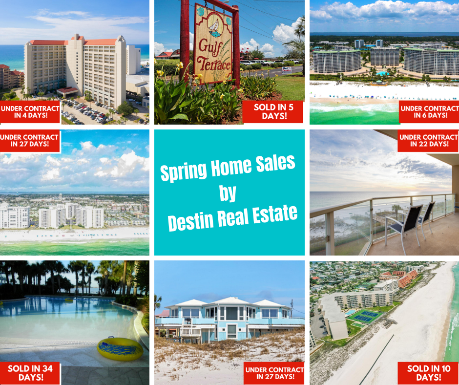 Spring home sales by Destin Real Estate