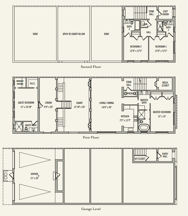 Clermont courts townhomes alys beach fl for Beach townhouse designs