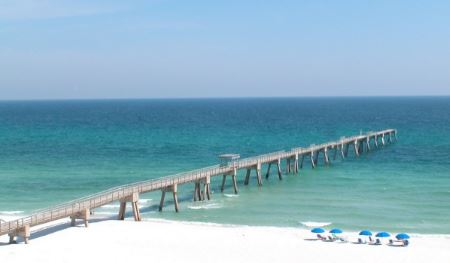Fishing pier at Holley by the Sea in Navarre FL