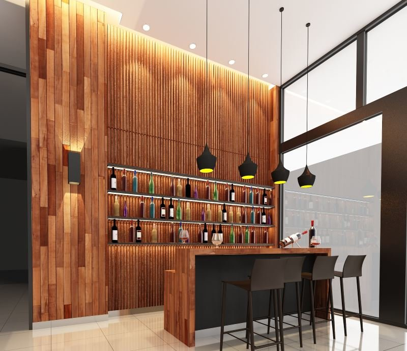 Modern design home bar