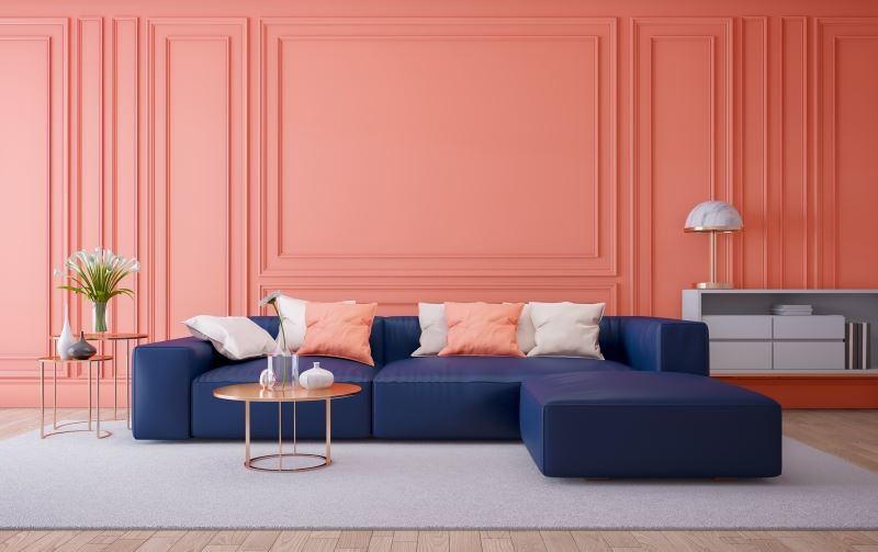 Living coral room decor