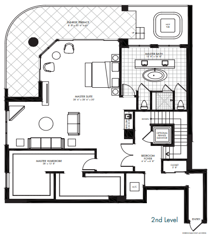 St. Kitts at Silver Shells - Newcastle Penthouse 2nd level floor plan