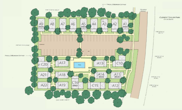Old Town Cottages site plan
