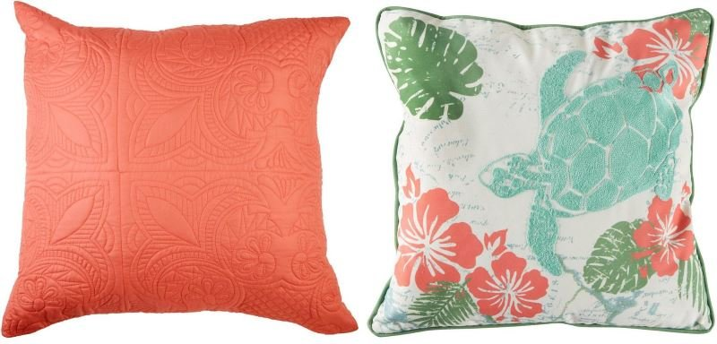Living coral pillows