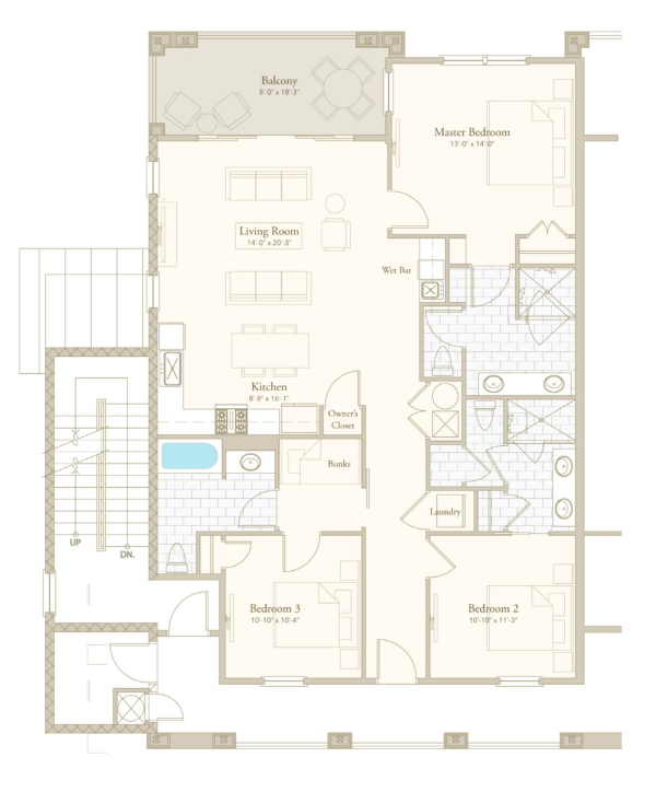 Parkview 3 floor plan - Parkside at Henderson Beach