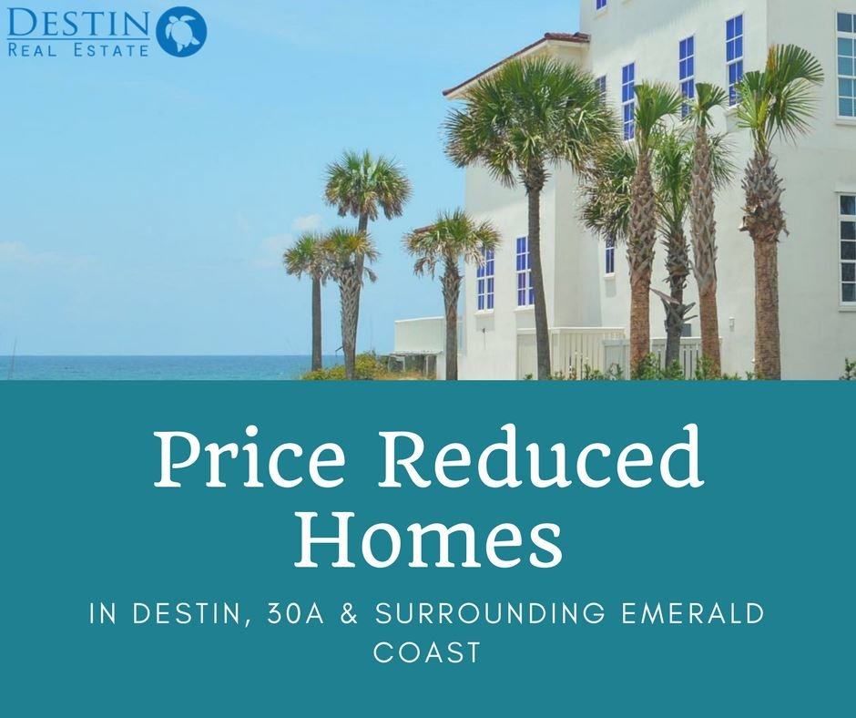 Destin price reduced homes