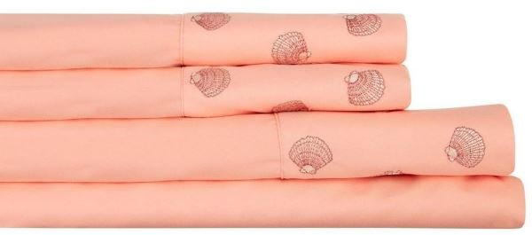 Sheets accenting Living Coral