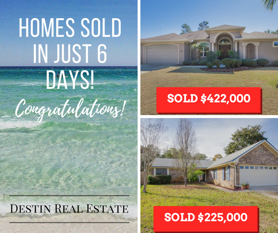 Okaloosa County homes sell in 6 days