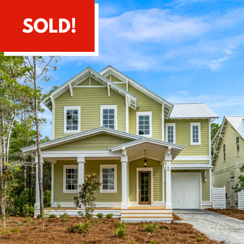 Home Sold by Destin Real Estate, Blue Mountain Beach, Florida