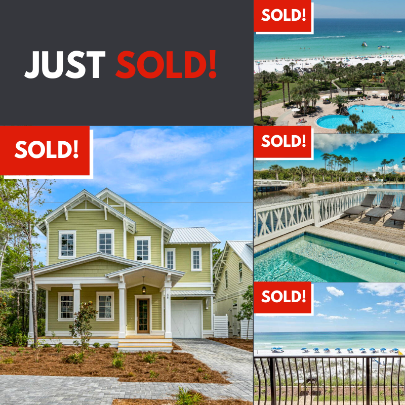 Sold homes by Destin Real Estate, Fall 2019