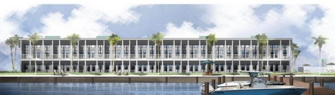 Waterfront view of Sound Side Lofts in Fort Walton Beach