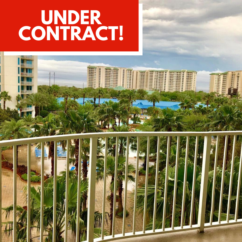 Condo Under Contract in the Palms of Destin by Destin Real Estate