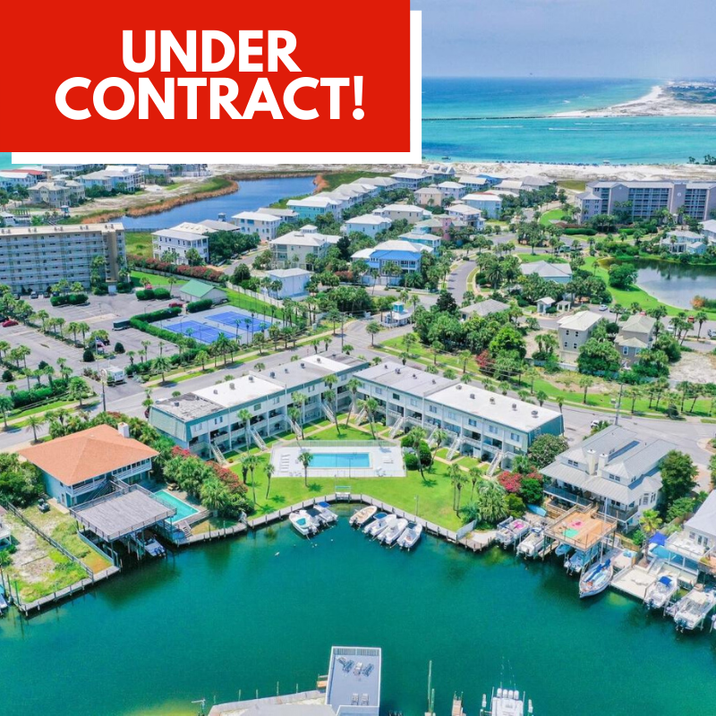 Townhome Under Contract in Isla Blanca by Destin Real Estate