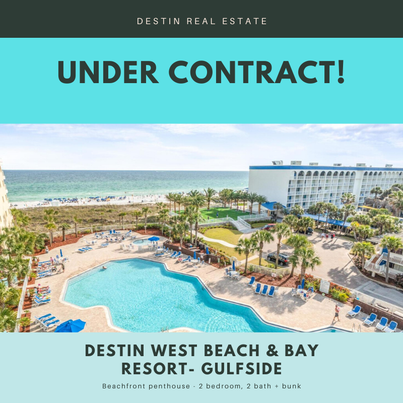 Destin West beachfront condo under contract