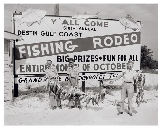 Vintage shot of the Destin fishing rodeo