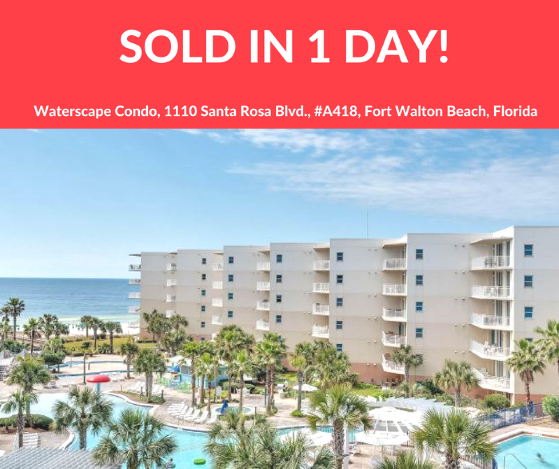 Waterscape condo in Okaloosa Island FL